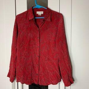 Evan Picone 100% Silk Blouse Size 10